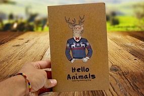 Скетчбук Hello Animals craft (Elk)