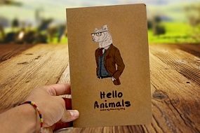 Скетчбук Hello Animals craft (wolf)
