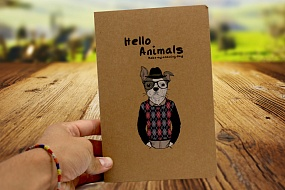 Скетчбук Hello Animals craft (Dog)