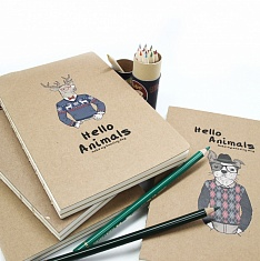 Скетчбук Hello Animals craft